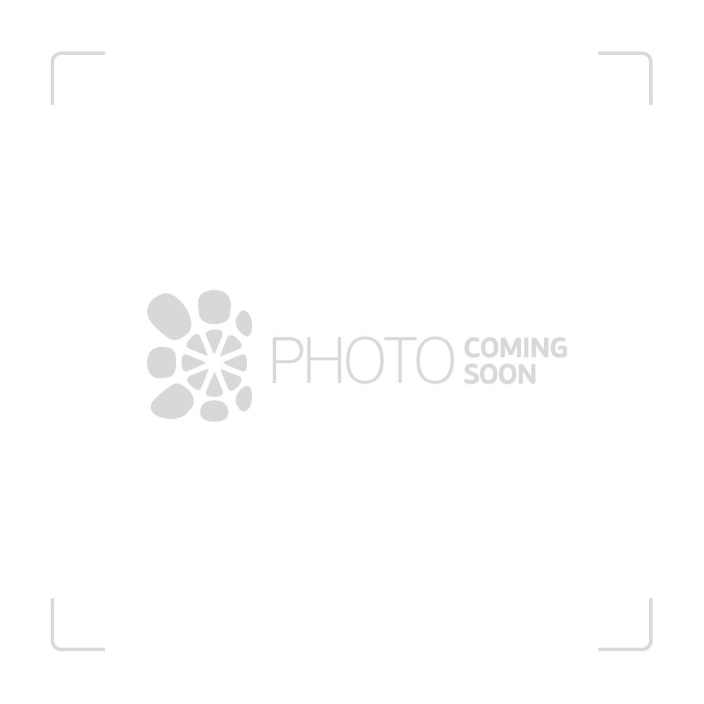 G-Spot Glass Sherlock Bubbler Pipe - Black and White Swirl - Side view 1